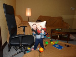 This is what Max ran to get after Skyping with Alex and Michael.